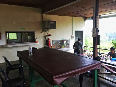 Communal dining/chill area outside dorms