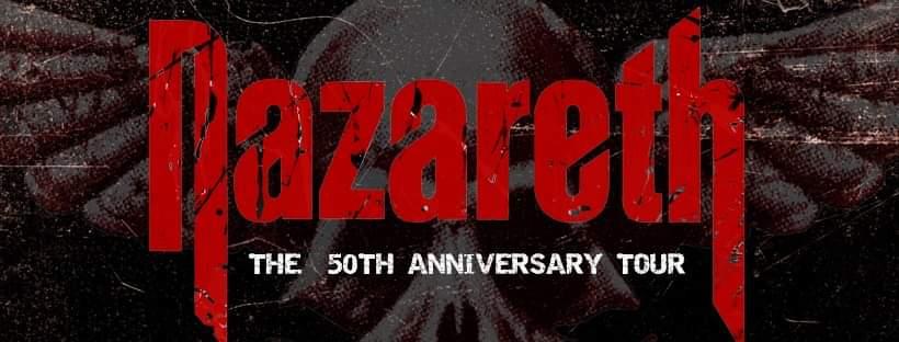 Nazareth stannar till i Göteborg under 50 års jubileums turnén. Förband blir värmländska Sparzanza.