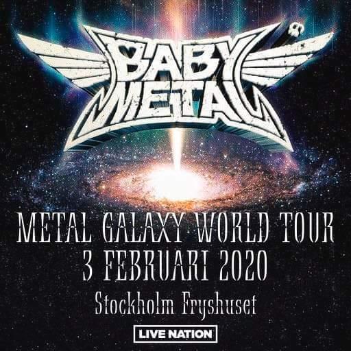 BABYMETAL kommer till Sverige i februari 2020. Biljetter släpps på fredag 5 Juli. Mer information i länken.