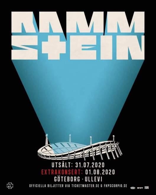 Extra konsert med Rammstein på Ullevi nästa år.