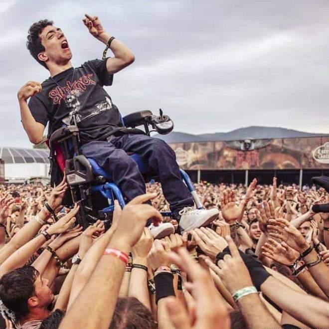 Wheelchair Crowdsurfing!