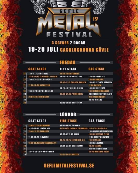 Gefle Metal Festival startar i morgon.
