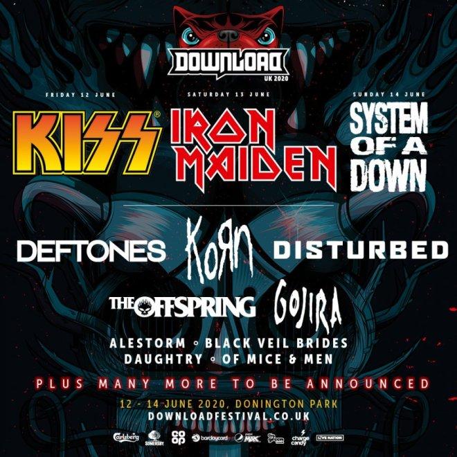 Download Festival UK presenterar huvudakt och andra klara band.
