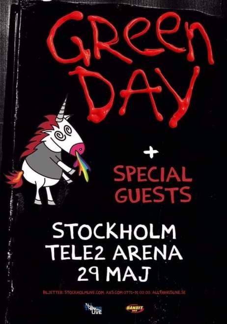 Green Day till Stockholm 2020!