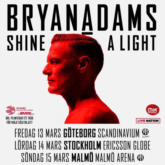 Bryan Adams till Sverige i Mars!