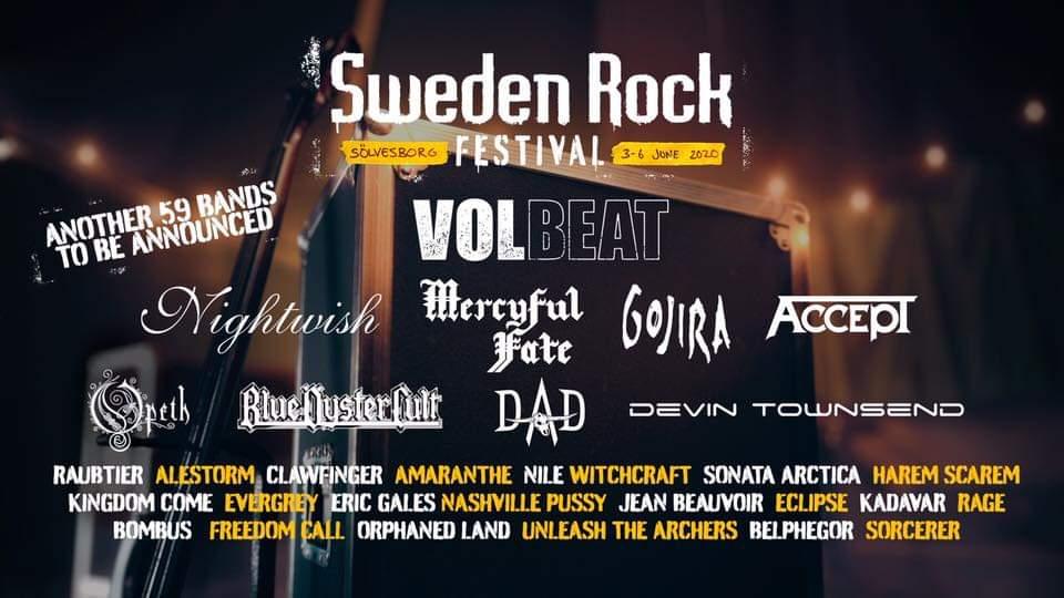 Breaking News! Första klara banden till nästa års Sweden Rock Festival!