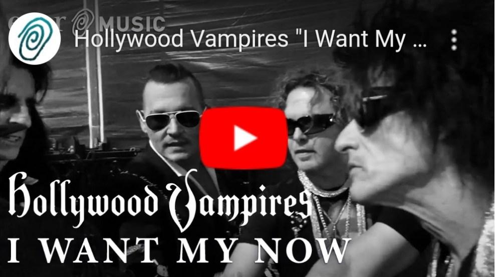 """Ny Video: Hollywood Vampires – """"I Want My Now""""."""