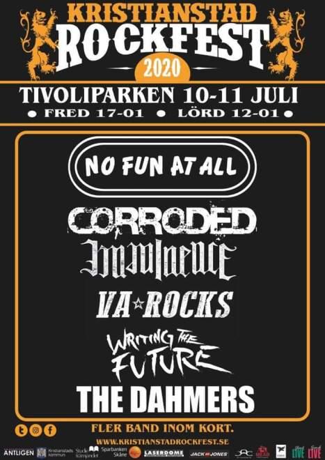 Kristianstad Rockfest har presenterat de första klara bokningarna.