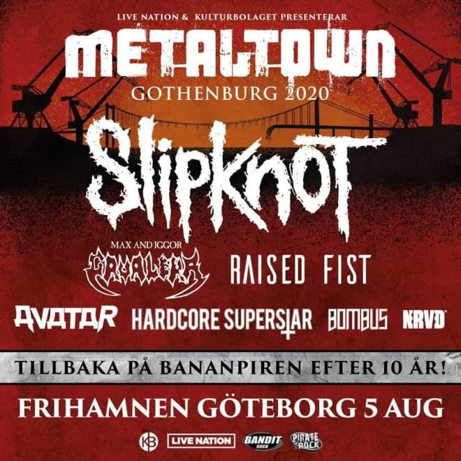 Metaltown tillbaka i Göteborg med Slipknot som headliner!