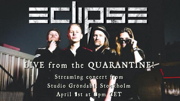 ECLIPSE flyttar inställda gig online och premiärspelar ny singel – 1 april kl 20:00!