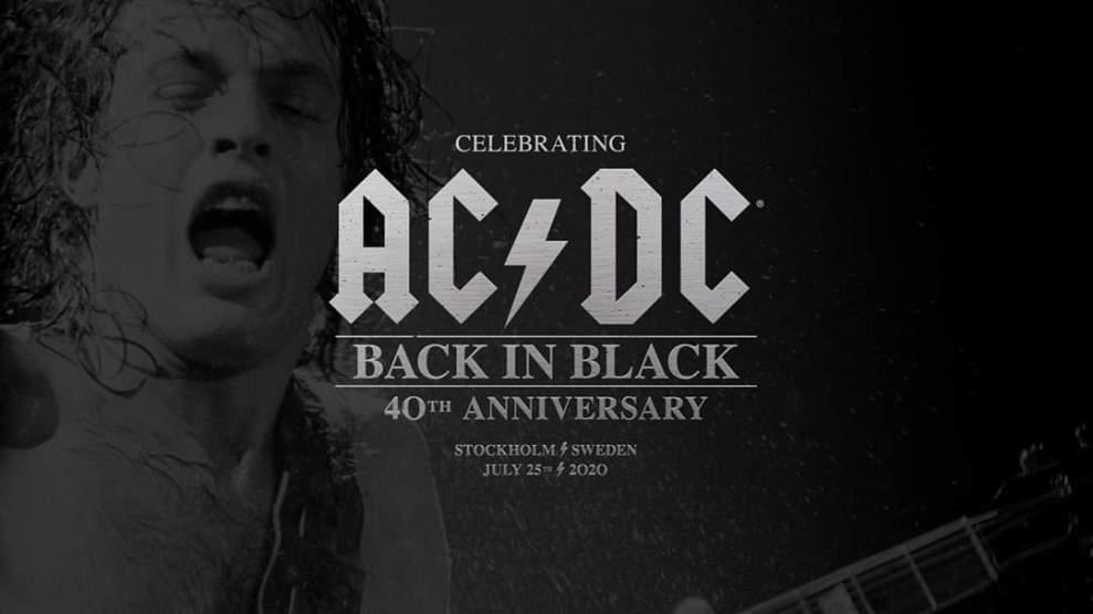 """Lördagen den 25:e Juli firar vi AC/DC's legendariska album """"Back in Black"""" 40-årsjubileum hos oss!"""