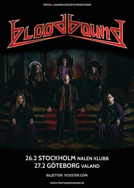 Bloodbound spelar i Stockholm och Göteborg!