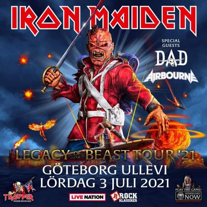 D-A-D gör unik spelning på Ullevi som förband till Iron Maiden 2021. Köp biljett i dag!