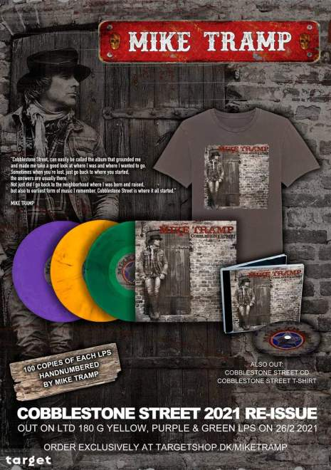 """Mike Tramp Official re-releases """"Cobblestone Street"""" in February 26th!"""