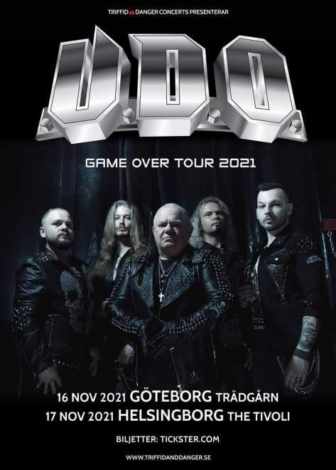U.D.O. spelar i Göteborg och Helsingborg!