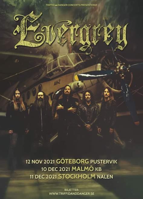 Evergrey släpper platta och spelar i Stockholm, Göteborg och Malmö!