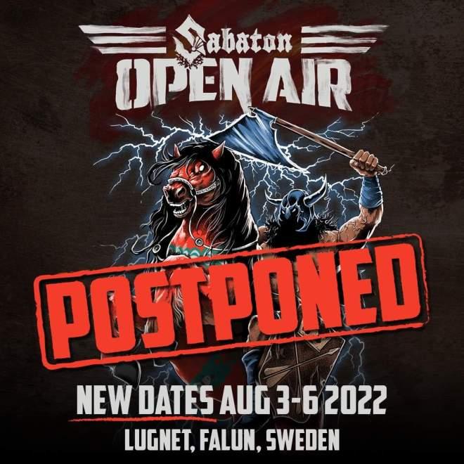 Sabaton Open Air 2021 framflyttat!