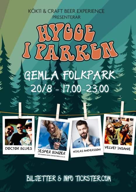 Hygge i Parken – Ny festival som lockar legendarisk sångare till Sveriges minsta folkpark!