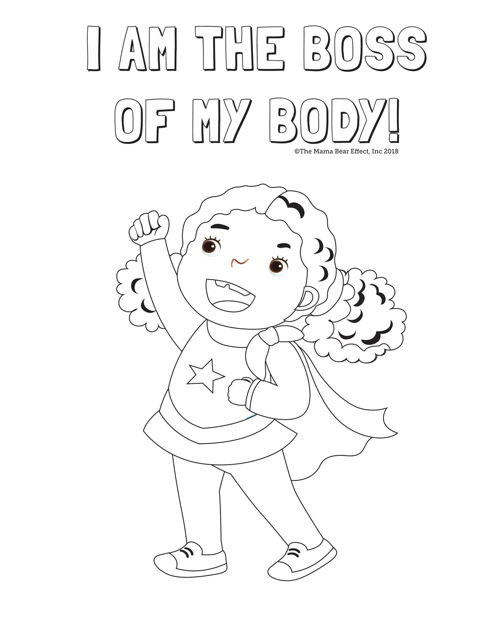 Hugs And Kisses Coloring Page For Kids
