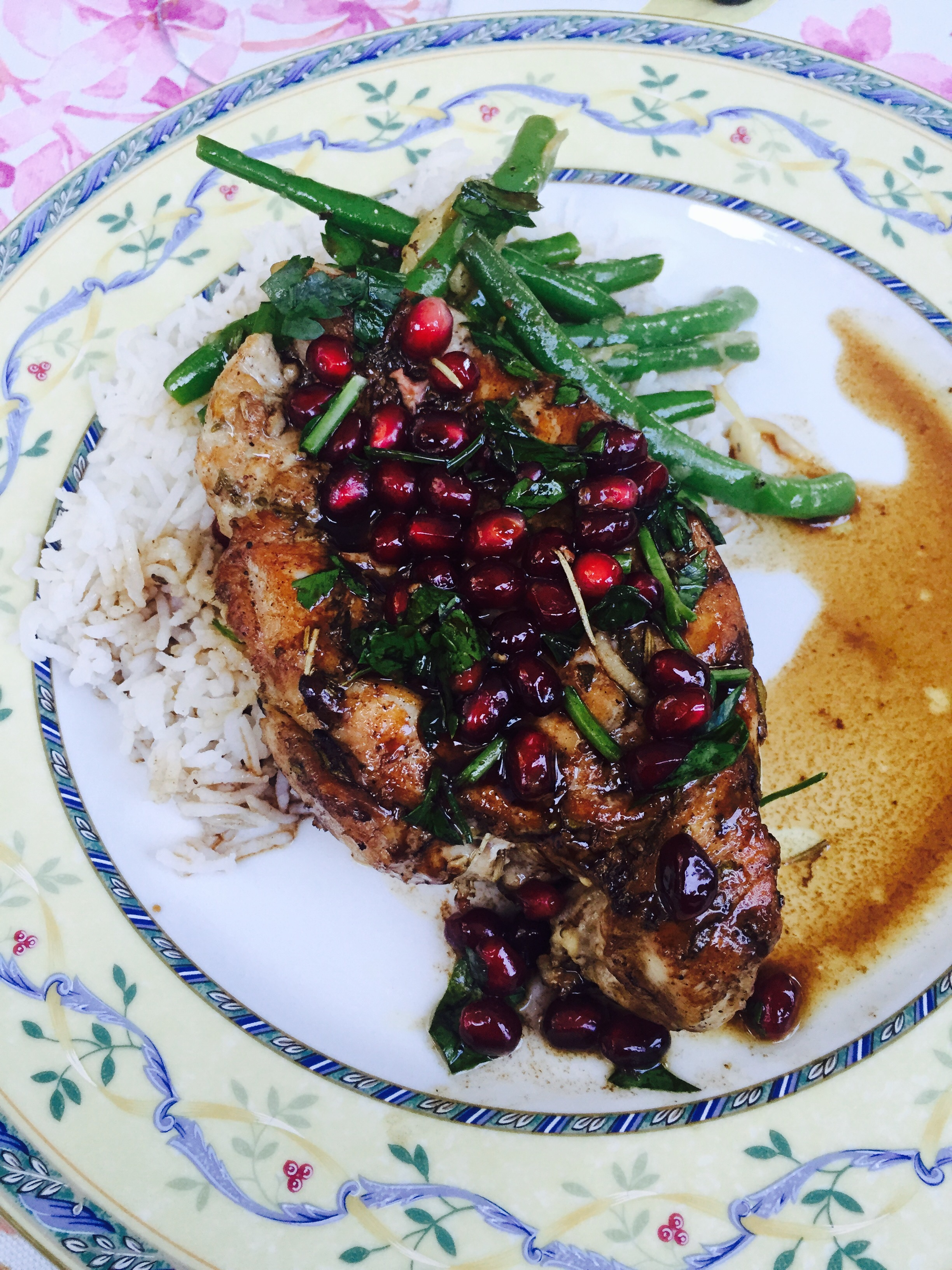 Awesome & Easy Pomegranate Rosemary Chicken