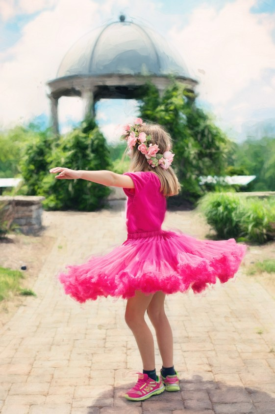 little girl, unique, dancing, twirling, original, strong, brave