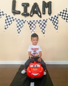 Vroom Vroom, Liam is 3!