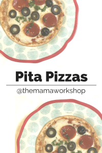Pita Pizzas (A Quick Lunch Idea)