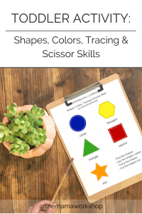 Toddler Activity: Learning Shapes and Colors