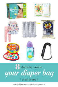 8 Diaper Bag Items to Have with You Always