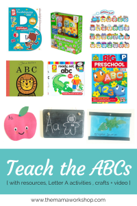 How to Teach the ABCs {Resources + the Letter A}