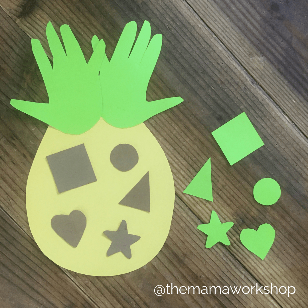 Pineapple Craft and Shape Matching Game