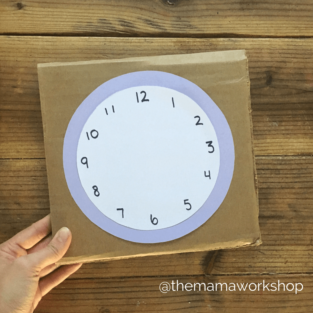 clock craft for preschoolers