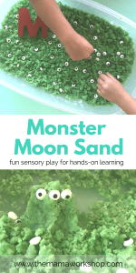 Monster Moon Sand – Sensory Activity