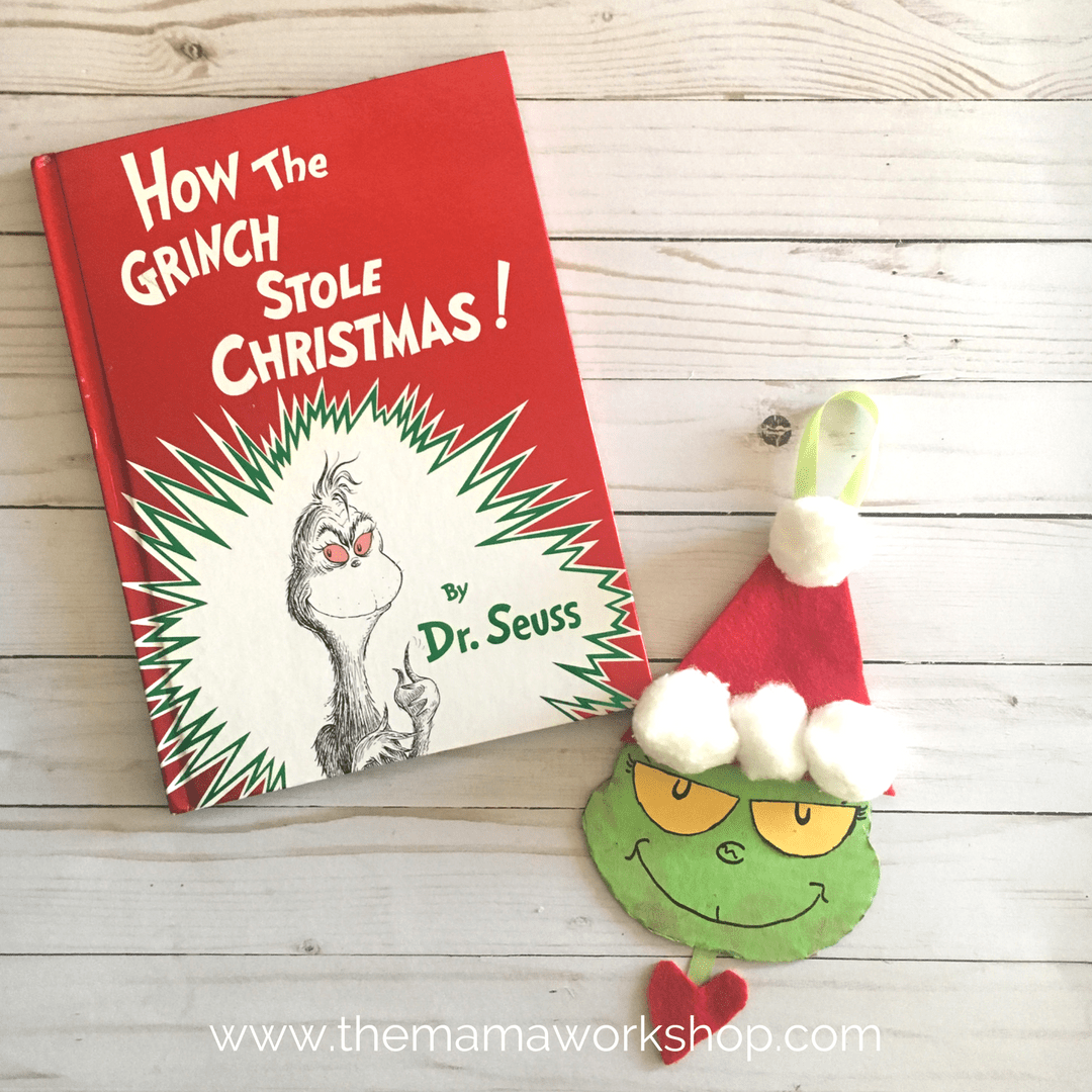 Diy Grinch Christmas Ornament The Mama Workshop