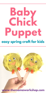 Baby Chick Puppet – Easy Spring Craft for Kids