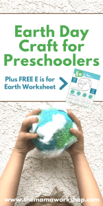 Earth Day Craft for Preschoolers and FREE Worksheet
