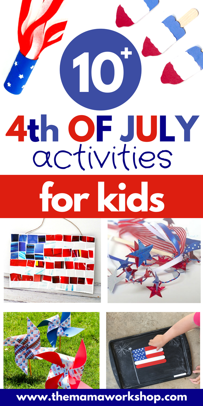 Here are more than 10 Fourth of July Activities to do with your kids! Do these the week of independence day or during the family BBQ. Have fun!