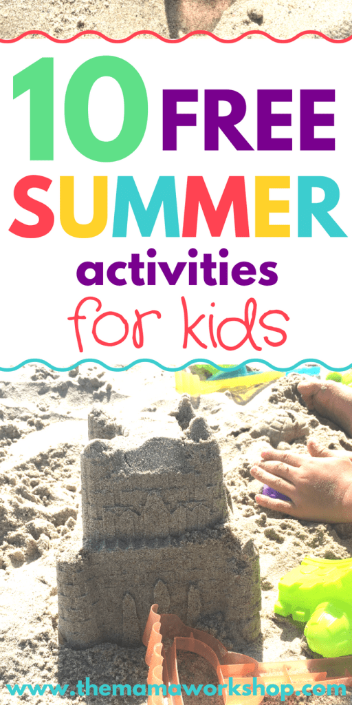 These 10 FREE Summer Activities for Kids take me back to my childhood! You don't need to go on a vacation to have a memorable summer. These fun things to do during the summer will help save you trips to the store. Yay!
