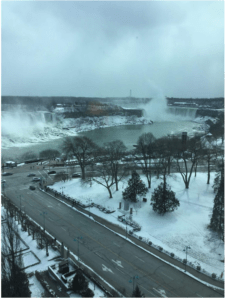 View from our room at the Sheraton on the Falls