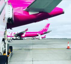 WOW air aircraft on tarmac