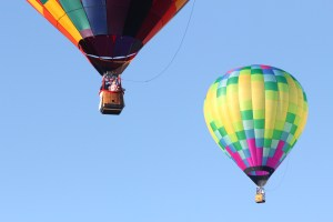 Super-villain lost amid hot-air balloons during Sussex festival