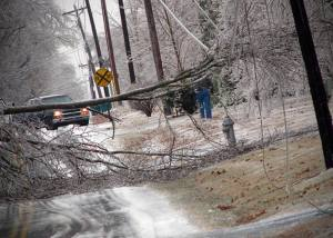 Winter storm causes power outages, road closures, bad hair for premier