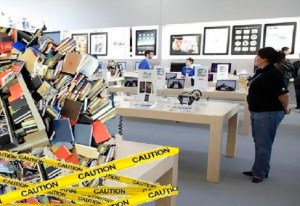 Twister hurls contents of Coles Books into Apple Store; result sweeps major architectural awards