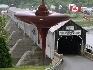 Town of Hartland partners with Ganong to create world's longest chocolate-covered bridge
