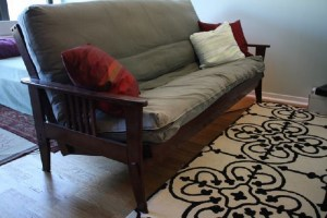 Ugly bidding war erupts over gently used futon for sale in New Brunswick