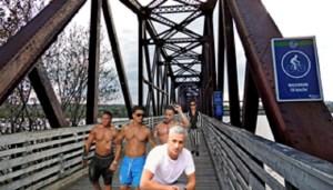 Olympian Ryan Lochte arrives in Fredericton for 'Bras Across the Bridge' fundraiser