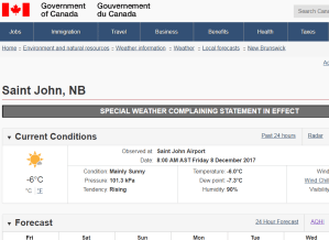 Special weather-complaining statement in effect for Atlantic Canada