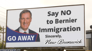 Reduce immigration of Maxime Bernier, say NB'ers