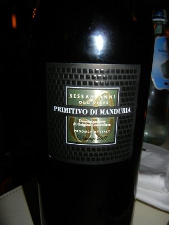 My favourite Primitivo di Manduria - from 60 year old wines at Bacco, Bangkok  (1/2)