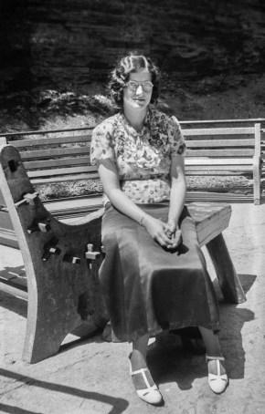 Juanita on the bench
